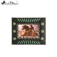 Montana West Indian Beaded Resin Photo Frame - Black