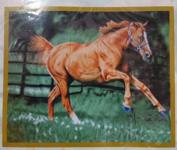 Western Express Polar Fleece Blanket - Running Horse