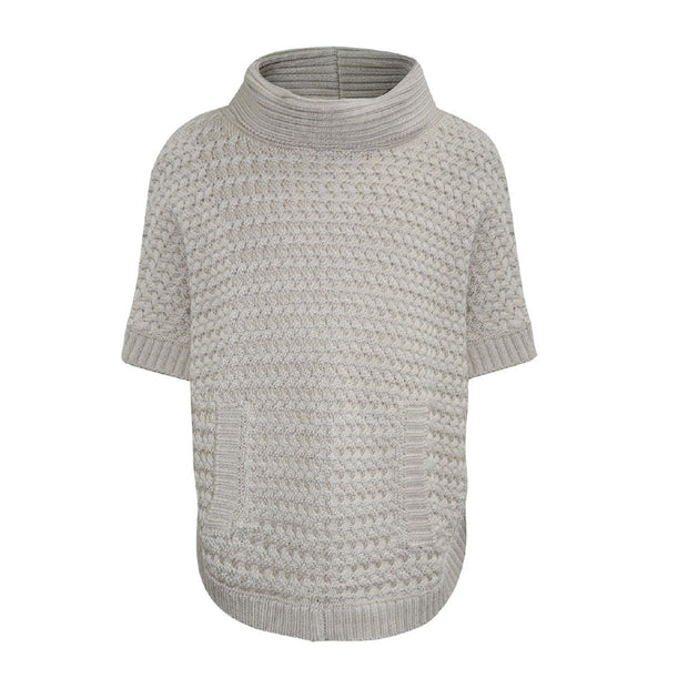 Thomas Cook Girls Zig Zag Knit Poncho - Pebble