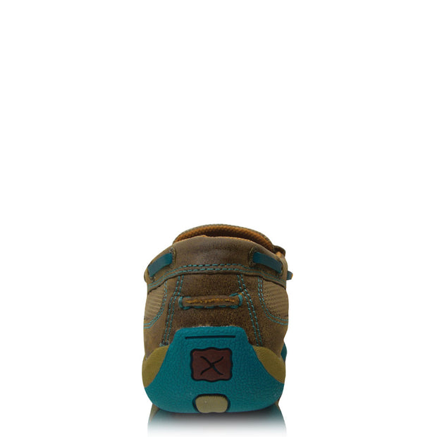 Twisted X Casual Ladies Driving Mocs Boat Slip On -BomberTurquoise