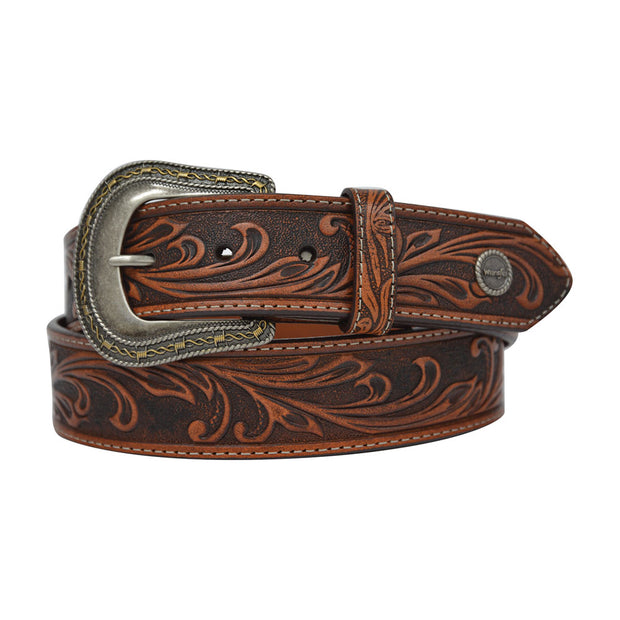 Wrangler Ladies Dusty Belt - Coffee/Chestnut