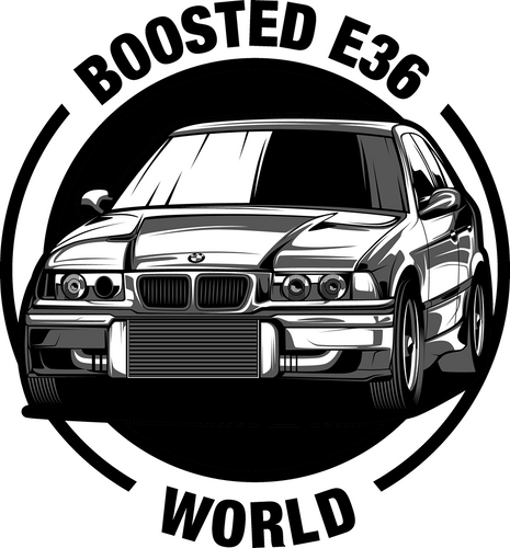 Boosted E36 World Sticker