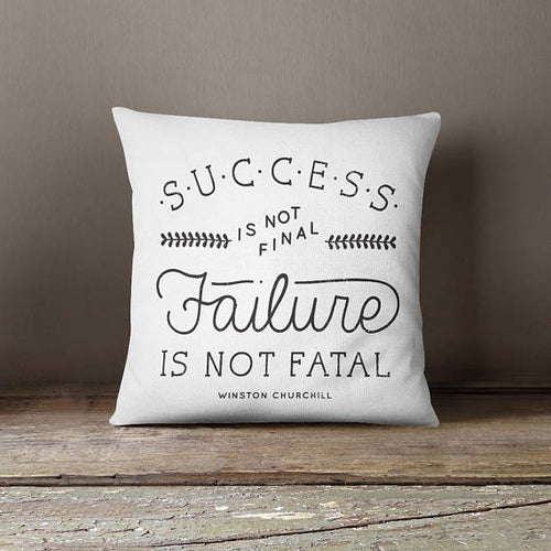 Success Quote Decorative Pillow Cover Throw Pillow Case - Boss Lady Swag