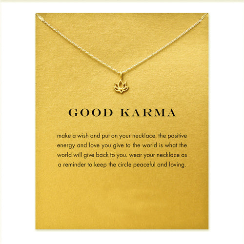 Good Karma Lotus Necklace - Boss Lady Swag