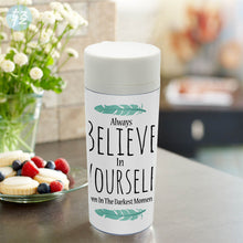 Believe in Yourself  BPA Free Plastic Insulated Water Bottle - Boss Lady Swag