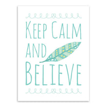 "Motivational Typography ""Keep Calm and Believe"" & ""Always Believe in Yourself"" Feather Quotes Print Poster Wall Picture Canvas Painting No Frame - Boss Lady Swag"