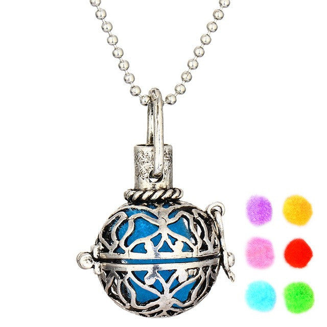 Essential Oil Aromatherapy Necklace Aroma Diffuser Locket Pendant Necklace - Boss Lady Swag