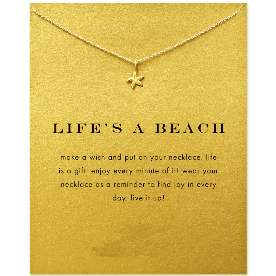Life's A Beach Starfish Necklace - Boss Lady Swag