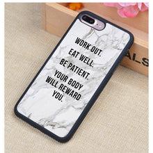 Motivational Gym Fitness Quotes Printed Soft TPU Protective Cell Phone Case For iPhone - Boss Lady Swag