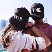 Queen and King Matching Embroidered Baseball Caps - Boss Lady Swag