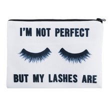 """I'm Not Perfect But My Lashes Are""  Makeup Bag - Boss Lady Swag"