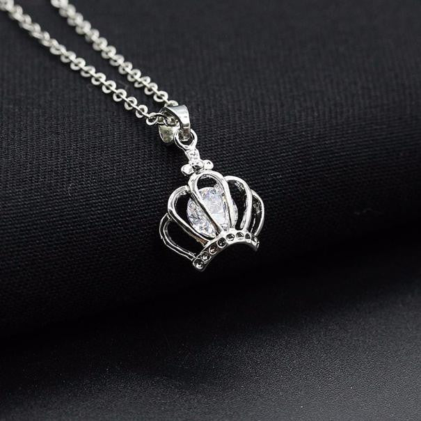 Boss Lady  Diamond Crown Pendant Necklace - Boss Lady Swag