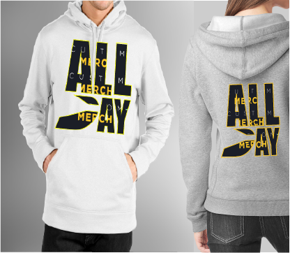"Customized MY SQUAD ""All Day"" Hoodie (Unisex)"
