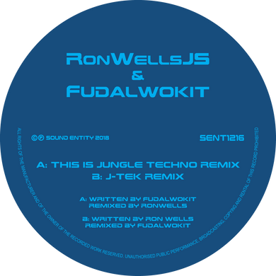 Ron Wells & Fudalwokit - This is Jungle Techno (Remix) / J-TEK (Remix) (SENT 1216) (12