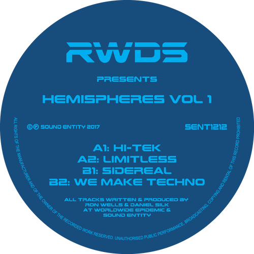 RWDS - HEMISPHERES VOLUME 1 (SENT1212) (Bespoke Made To Order 12