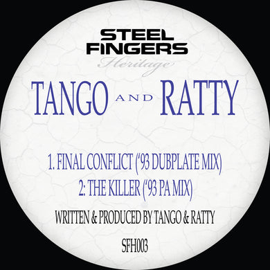 SFH003 Tango & Ratty ('93 Dubplate Mixes) REPRESS RUN  (Bespoke Made To Order 12