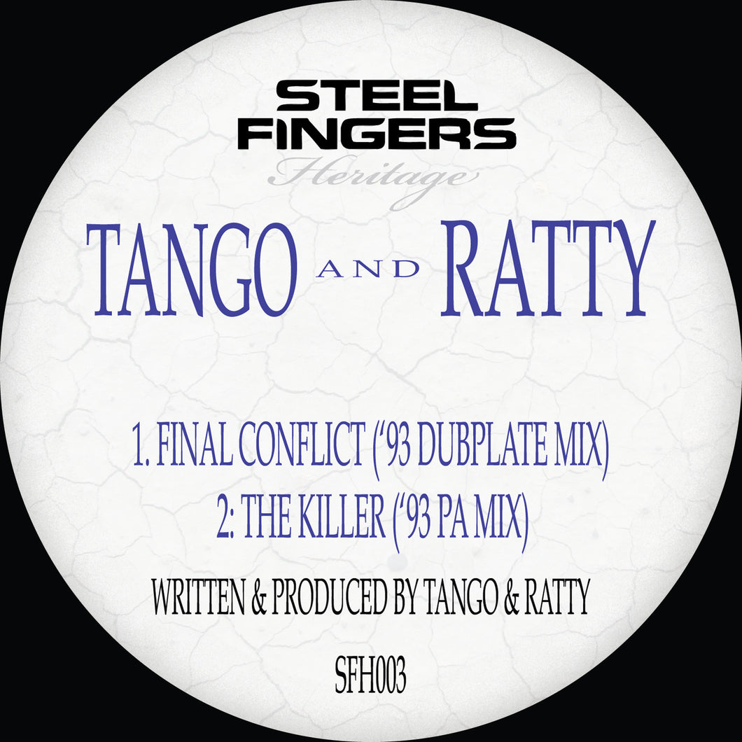 SFH003 Tango & Ratty ('93 Dubplate Mixes) REPRESS RUN  (12
