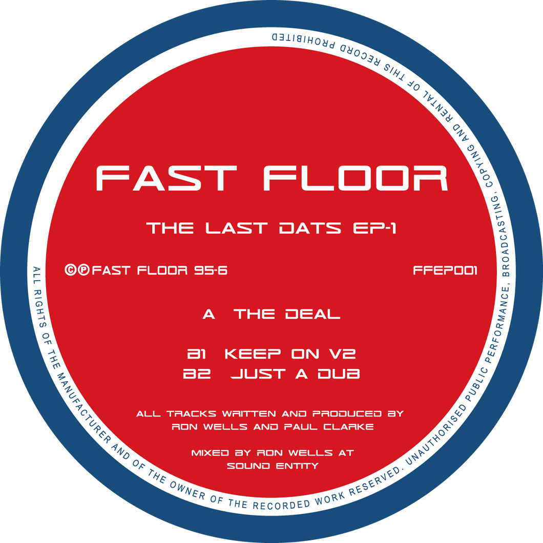 Fast Floor - The Last Dats EP's (4 x 12