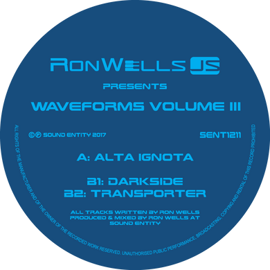 Waveforms Volume III EP (SENT1211) (Bespoke Made To Order 12