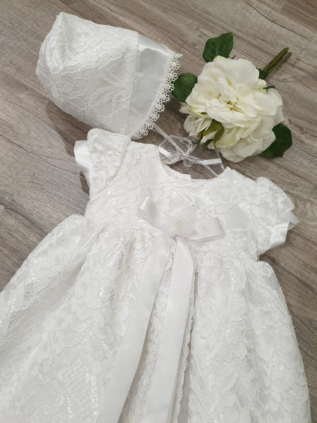 Girl's all over lace gown