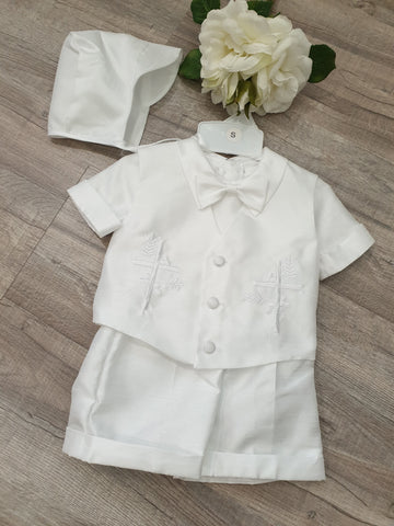 Boys Baptism-Christening Cross Vest Set
