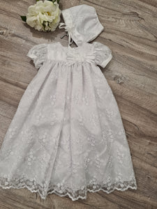 Girl's glittery floral organza dress -NEW TO STORE