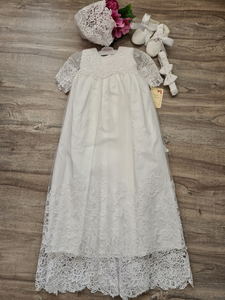 4309G white gown with lace - Size 1 -LAST ONE