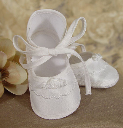 Girls Silk Dupioni Shoe