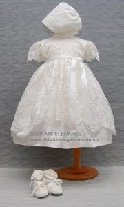 4249: Girls' Silk Christening Dress