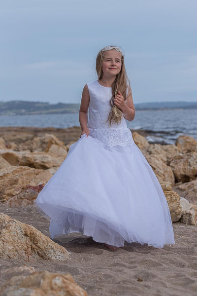 Lace and Tulle Skirt Communion Dress - PP17164