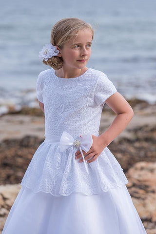 Guipure and Organza Communion Dress - PP17165