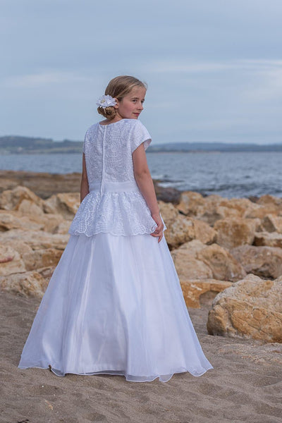 #PP17165 Guipure and Organza Dress