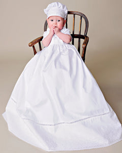 Boy's Classic entre-deux trimed gown