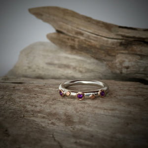 Bague Picot Or Rose Améthyste / Amethyst Rose Gold Picot Ring