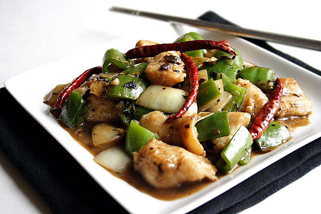 Fish Fillet in Sichuan Style with Vegetables - 套餐(椒麻鱼片+本周蔬菜)