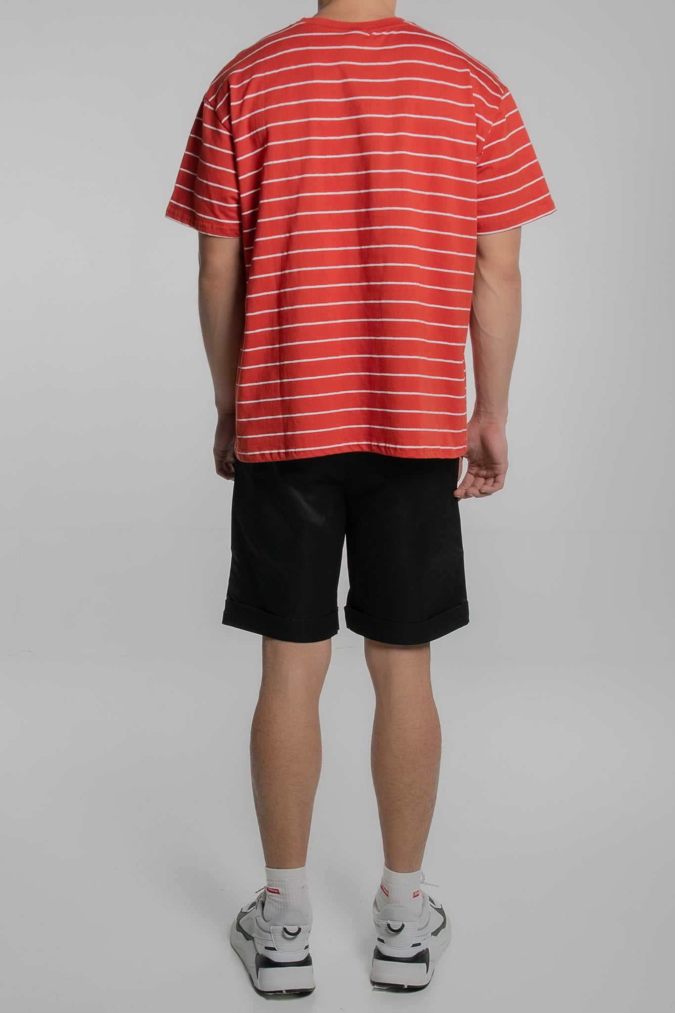 3P Horizontal Striped T-Shirt (Red)