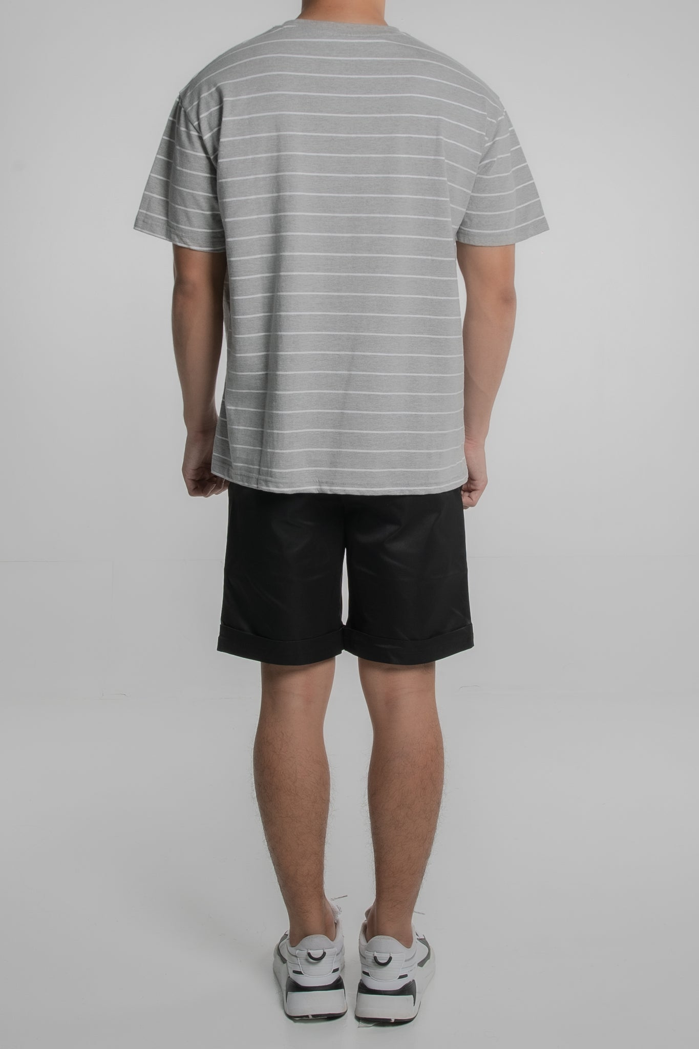 3P Horizontal Striped T-Shirt (Grey)