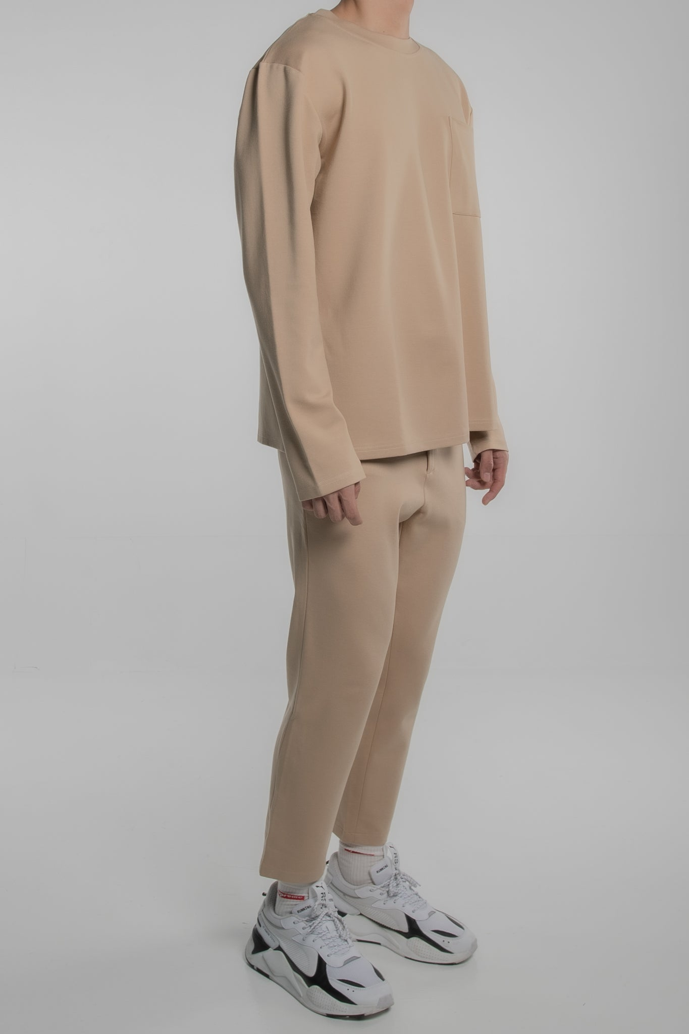 Pocket Comfort Pants (Beige)