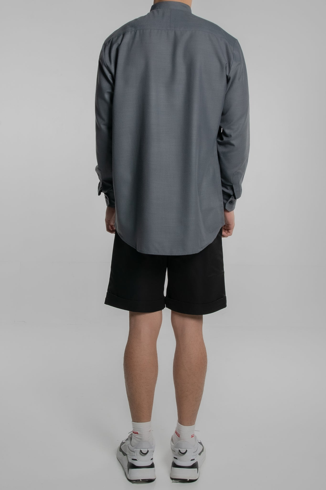 Grandad Collar Long Sleeves (Dark Grey)
