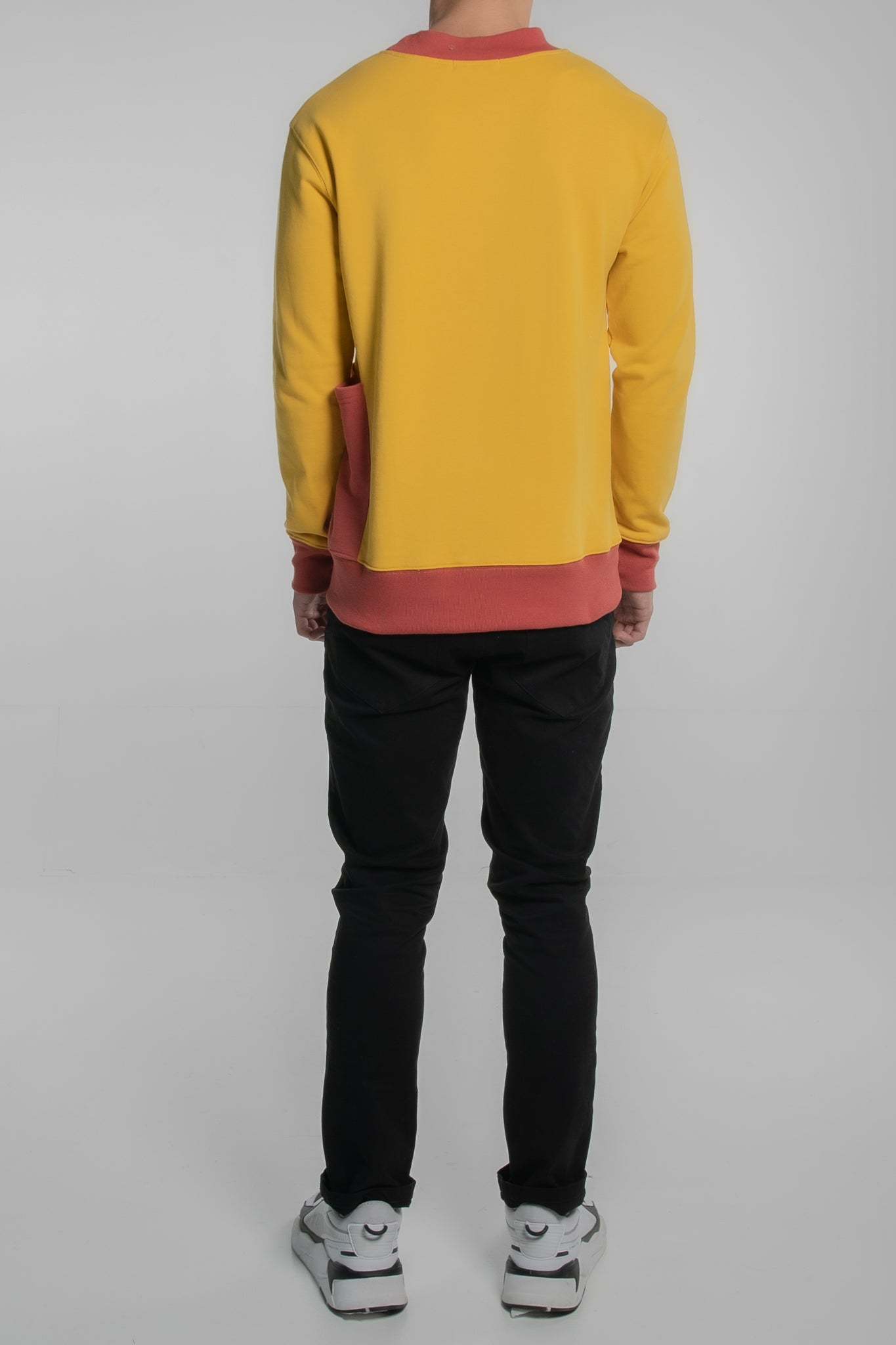 Contrast Collar Pullover (Orange)