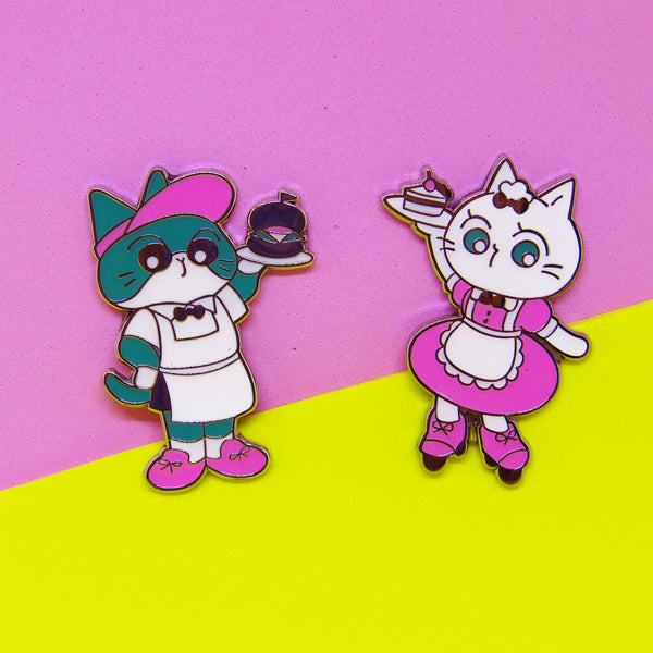 Midnight Cat Cafe Pins