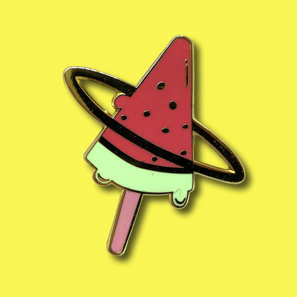 Watermelon ice cream logo pin