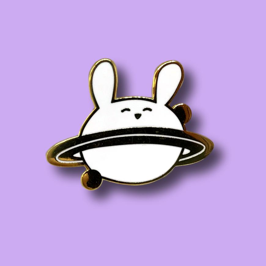 Bunny Planet Pin