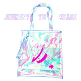 Journey to Space Clear Holographic Totebag