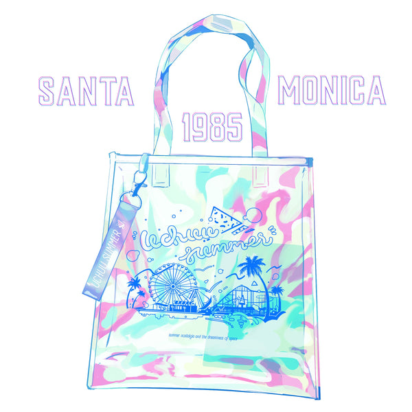 Santa Monica 1985 Clear Holographic Totebag Preorder