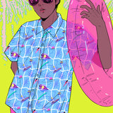 Pool Dreams Hawaiian Shirt by Shirley Chan