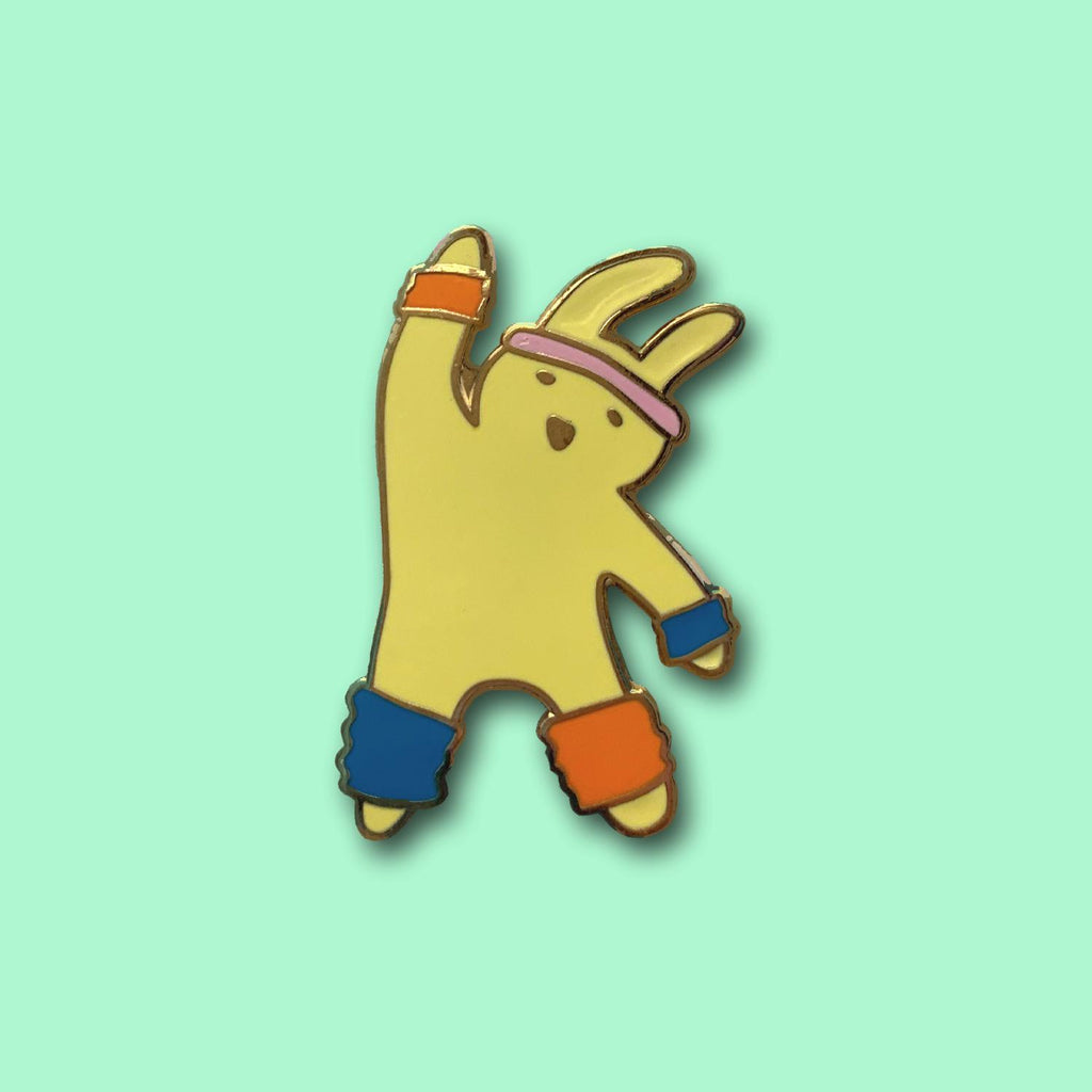 Exercise bunny pin