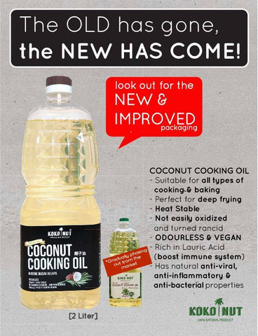 New Kokonut Coconut Cooking Oil. Use Only Healthy Cooking Oil for your cookings
