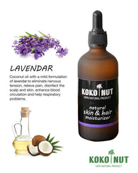 Kokonut 100ml Skin & Hair Care Coconut Oil Infused with Natural Lavender - Mykokonut