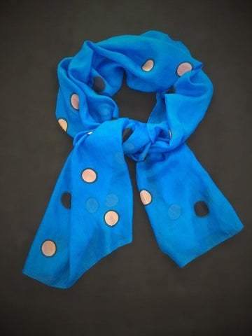 Cobalt Blue Silk Scarf - Beautifully Rapt
